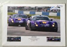 2004 12 Hours of Sebring TVR TEAM 11x19 Signed Photo 31/200 By Jack Webster