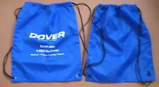 """Blue backpack~bookbag~water repellent~17"""" x14""""~with Dover logo~NEW~price per ea"""