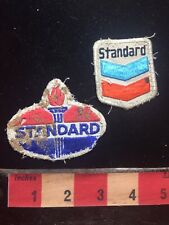 As-Is Filthy & Vintage - Pair Of STANDARD OIL & GAS Advertising Patch 77YC