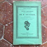 MIGNET Notice historique sur la vie et les travaux de Jouffroy Firmin-Didot 1853