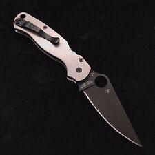 Spyderco Paramilitary 2 C81GPBK2 w/ Custom Titanium Stonewash Scales C81GP2