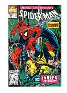 Spider-Man 12 NM+ 9.6 Wolverine McFarlane Marvel Comics 1991