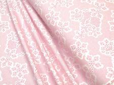 Jersey Blüten rosa auf weiß Baumwoll Jersey 0,5m