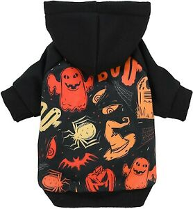 Fitwarm Halloween Dog Costume Puppy Hoodies Pumkin Doggie Winter Clothes Jacket