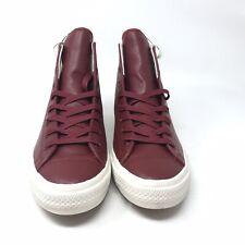 7517 Converse CTAS II Hi Sneaker Red Leather US Mens 10 Women 12