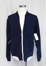 New Balance For J.Crew Coach's Jacket Workout Top Navy White Large NWT  $125
