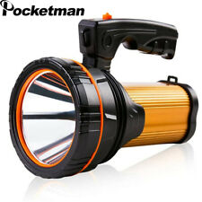 Powerful 160W Searchlight Spotlight USB Rechargeable Flashlight Tactical Torch