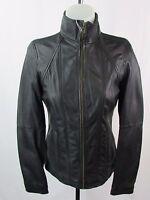 Andrew Marc/Marc NY Women's Full Zip Black Leather Jacket Size XS S M