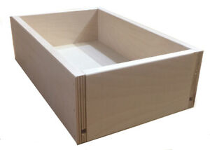 Drawer BOX, Custom, cut to size, Replacement, Cabinet Drawers, Birch
