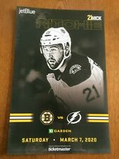 2019/20 BOSTON BRUINS NICK RITCHIE LINEUP POSTER 3/7/20 VS TAMPA BAY