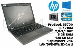 HP ProBook 6570b Intel i5-3210m 2,5GHz 8GB RAM 128GB SSD Win10