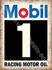 Mobil 1 Racing Motor Oil, Vintage Garage, Motorsport Advert Large Metal/Tin Sign