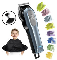 Hair Clippers for Men - Professional Cordless Rechargeable Beard Trimmer with 8