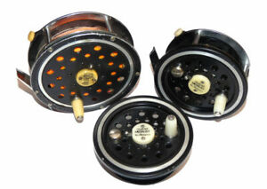 2 Pflueger Medalist trout & salmon fly reels with spare spool