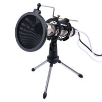 Foldable Desktop Microphone Tripod Stand With Shock Mount Mic Holder Po VXW