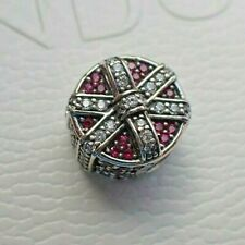 NWT Authentic Pandora Shimmering Gift Charm Red & Clear 792006CZR