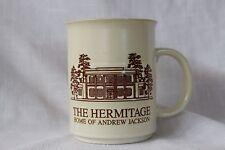 The Hermitage Home of Andrew Jackson Coffee Tea Mug Cup Nashville, TN Tan