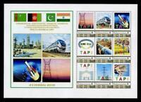 Estampillas postales TAPI (Turkmenistán a India) Pipeline Infrastructure Project