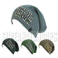 Spiked Studded Ski Skullcap Unisex Baggy Oversize Hip Rasta Beanie Slouchy  Hat 23456cbe0346