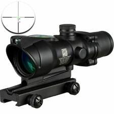 ACOG 4X32 Fiber Source Red Illuminated Scope black color Tactical Hunting Rifles