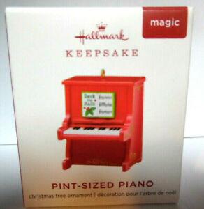 Hallmark 2019 PINT-SIZED PIANO - Miniature Ornament - Magic Sound - NIB