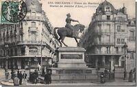CPA 45 - ORLEANS - Place du Martroi et statue de jeanne d' arc par foyatier