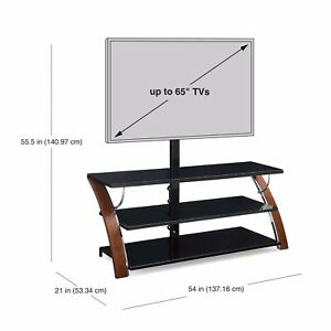 Mainstays Arris TV Stand - Medium Brown (MS17-D4-1011-03)