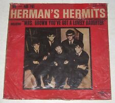 Chinese Introducing HERMAN'S HERMITS Orange Vinyl LP Record