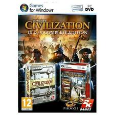 Sid Meier's Civilization  3 III and 4 IV Complete Edition PC Brand New Digital