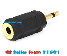 2.5mm Mono Plug(Male) to 3.5mm Mono Jack(Female) Adaptor - Gold Plate