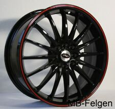 Rimstock Jet blackred 7x17 Alufelgen Smart forfour 454