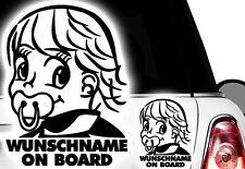 1x Aufkleber WUNSCHNAME ON BOARD Sticker Hangover Baby Auto Kind fährt mit FUNi