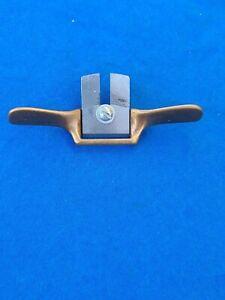 """Special 3-1/2"""" OAL Brass Spoke Shave w/7/8"""" Blade"""