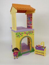 Fisher-Price Dora Talking Big Sister Nursery Twins Room Dollhouse w Figures Baby