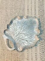 Vintage EVERLAST Forged Aluminum Leaf Tray Small Appetizer Platter 1930-1960's