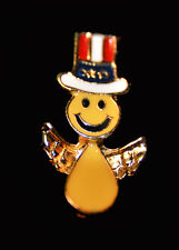 SMILEY FACE ANGEL PATRIOTIC - 4th of JULY PIN