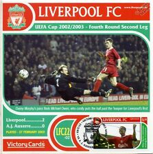 Liverpool 2002-03 Auxerre (Michael Owen) Football Stamp Victory Card #222
