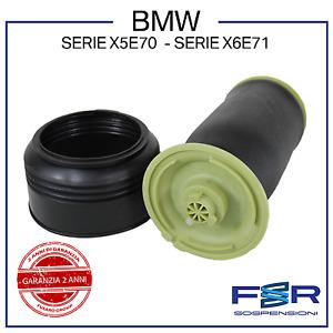 BMW X6 E71 KIT MOLLA SOFFIONE SOSPENSIONE ARIA AMMORTIZZATORE POST 37126790078