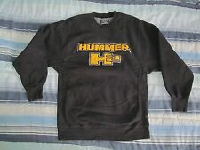 HUMMER H2 Black Embroidered quality sweatshirt STEVE & BARRY'S Medium 20.5 by 30