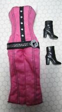 2010 ROCK STAR Barbie/Model doll FASHIONISTAS pink strapless ROMPER GoGo boots