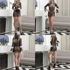 SEXY NUN FANCY DRESS Halloween COSTUME Habit Ladies Hen Party Black Lingerie Kit