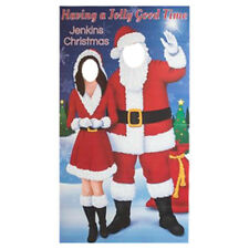 SANTA CLAUS & MRS CLAUS Personalized CARDBOARD CUTOUT Stand-In Christmas Standin