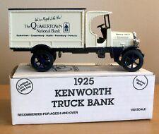 Rare 1993 ERTL 1925 KENWORTH Quakertown  National Bank LE Die Cast Truck Bank