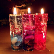 Romantic Glass Gel Candles Jelly Wax  Tea Cup Floral Wedding Scented Smokeless