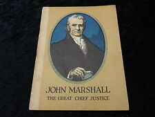 C1930s Booklet published by John Hancock Mutal-Boston J Marshall - Chief Justice