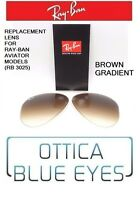 LENTI di Ricambio Sole RAYBAN AVIATOR 3025 Ray Ban Replacement Lenses brown 51
