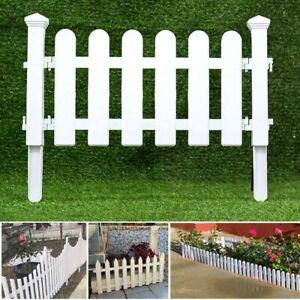 Outdoor PVC Plastic White Fence Garden Flowerpot Parterre Fence Decoration