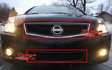 Fits 07-10 Nissan Sentra SE-R Black Mesh Grille Combo