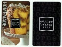 Corner Bakery Gift Card LOT of 2 - Coffee Cake / Homemade / Cafe - No Value