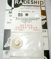 """35 Tooth CROWN Gear DELRIN Tradeship #523 Set Screw type  48 pitch 1/8"""" axle NOS"""